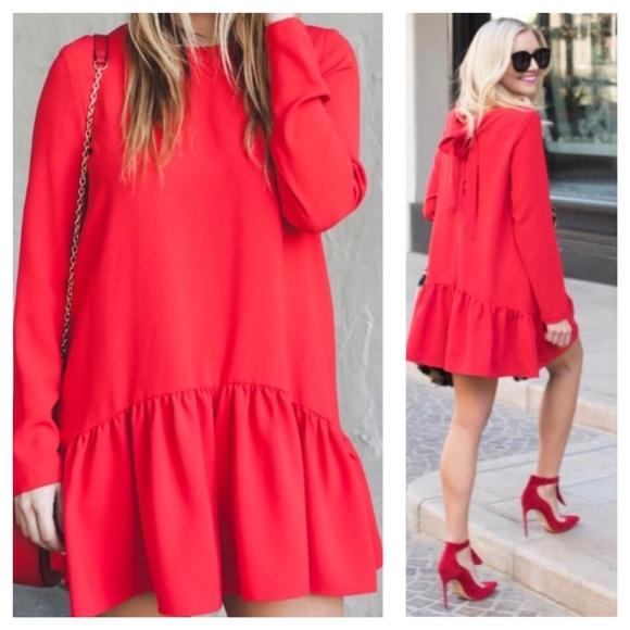 20c5632dc2c1 Zara Frilled Romper Red NWOT. M 5becbdabc89e1df5a9133edb